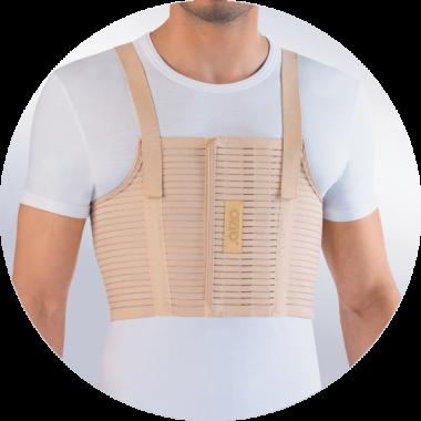 Бандаж на грудную клетку усиленный мужской ORTO БГК-423