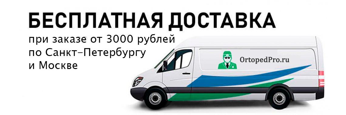 Бесплатная доставка от 3000 руб по Санкт-Петербургу и Москве