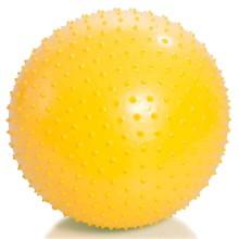 Мяч для занятий лечебной физкультурой (массажный, АВС, с насосом, 55см., желтый) Тривес М-155