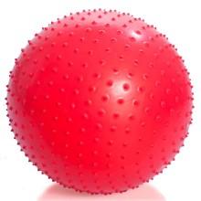 Мяч для занятий лечебной физкультурой (массажный, АВС, с насосом, 65см., красный) Тривес М-165