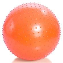 Мяч для занятий лечебной физкультурой (массажный, АВС, с насосом, 75см., оранжевый) Тривес М-175